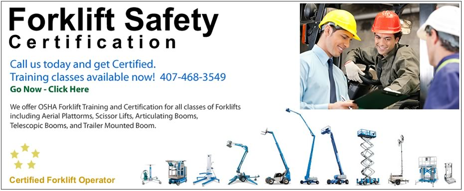 Best forklift certification training and classes in the Orlando, Tampa, Lakeland, and Leesburg areas.
